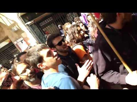 Forta presencia policial i càrregues en la manifestació 1 de Maig a Manresa