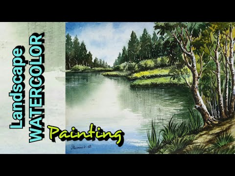 HOW TO LANDSCAPE WATERCOLOR PAINTING in very easy steps