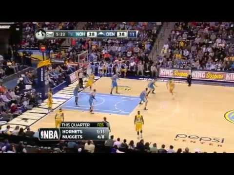 NBA November 25 2012: New Orleans Hornets vs Denver Nuggets Highlights