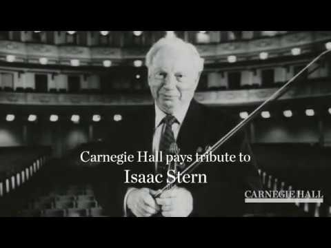Isaac Stern Centenary at Carnegie Hall