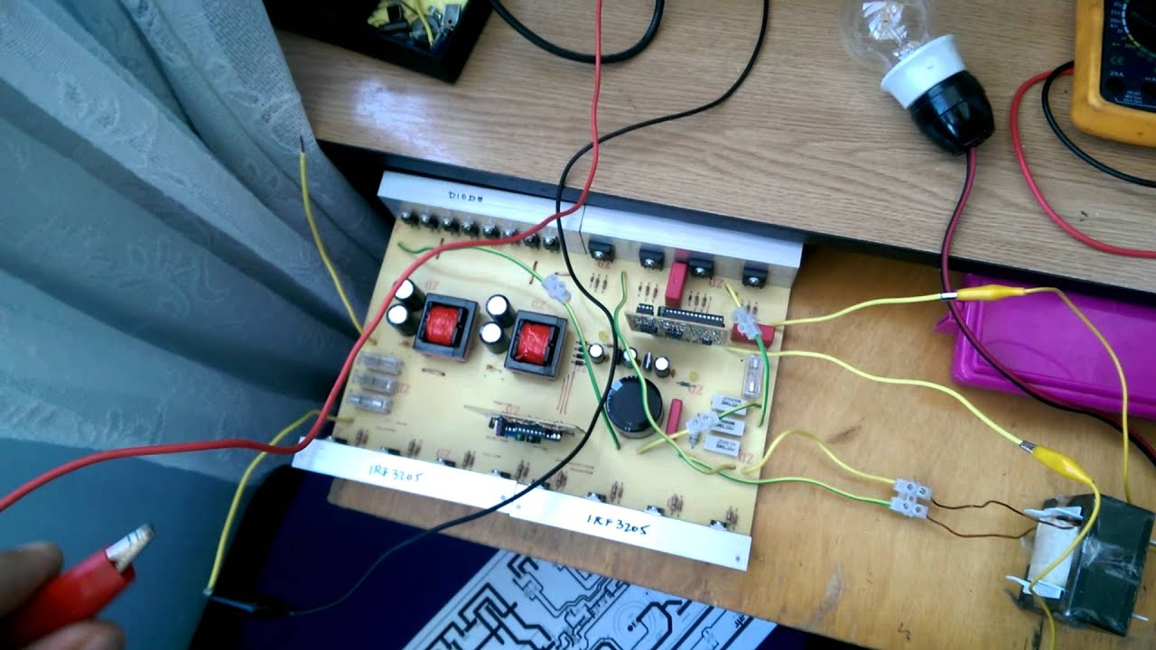 Pure Sine Wave Inverter Using Sg3525 And Atmega 8 By Haisan Marian How To Build A100 Watt Circuit Electronic