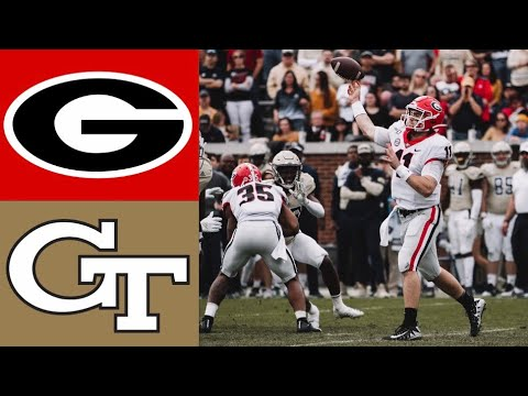 #4 Georgia vs Georgia Tech Highlights | NCAAF Week 14 | College Football Highlights