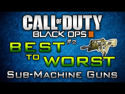"Black Ops 3 ""Best to Worst"" #2: Submachine Guns in BO3! ( + SMG Diamond Showcase)"