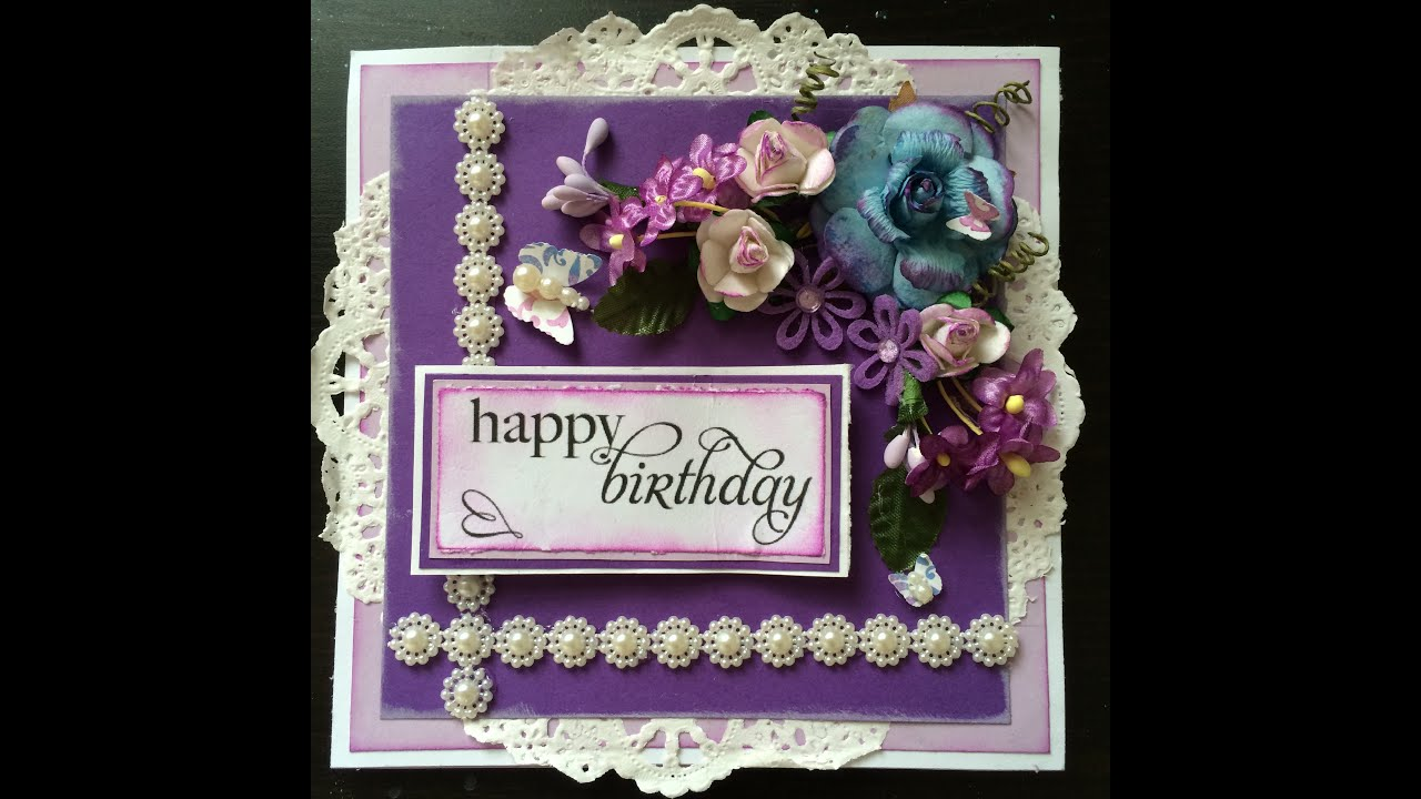 Tutorial shabby chic easel birthday card youtube m4hsunfo