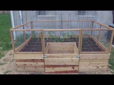 Around The Home 25 Building A U Shaped Raised Bed Part 1 Youtube