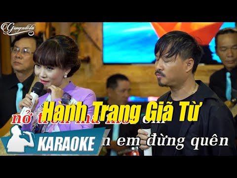 Karaoke Song Ca Hành Trang Giã Từ - Quang Lập & Lâm Minh Thảo | Nhạc Vàng Song Ca Karaoke