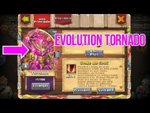 Castle Clash TORNADO Test + Evolution !1