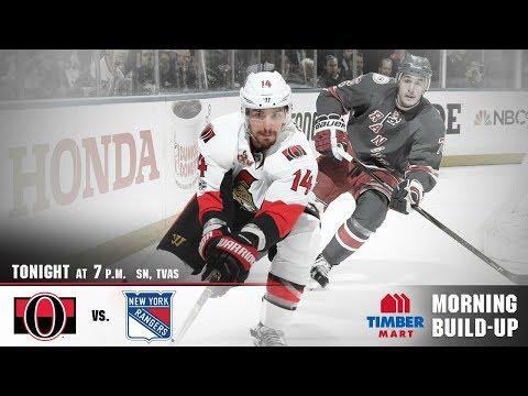 NHL 18 PS4. REGULAR SEASON 2017-2018: Ottawa SENATORS VS New York RANGERS. 11.19.2017. (NBCSN) !