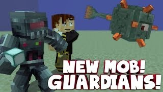 Minecraft: NEW BOSS MOB! The Guardian - Glitches, Tricks and DERP!