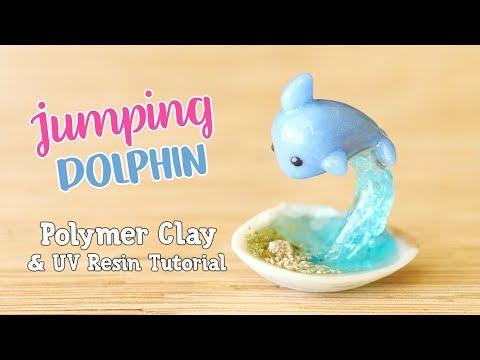 Kawaii Jumping Dolphin Figurine│Polymer Clay & UV Resin Tutorial