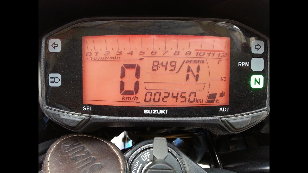 Suzuki Gixxer / Gixxer SF speedometer setup - Read the comments section for  more info