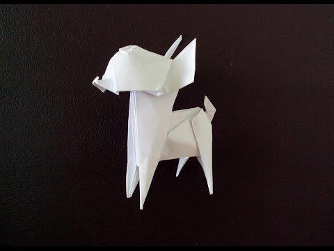 Собака Чихуахуа или Той терьер оригами (Fuchimoto Muneji), Dog Chihuahua or Toy Terrier
