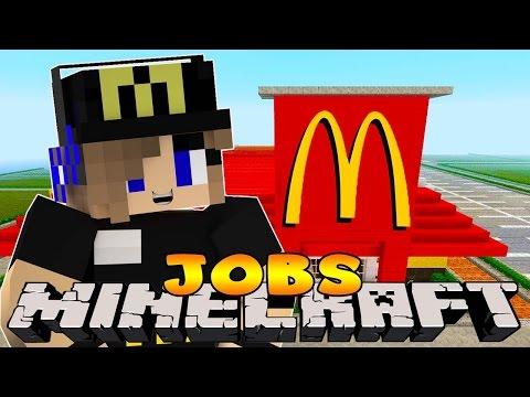 Minecraft Jobs-Little Carly Adventures-WORKING IN MCDONALDS W/Little Kelly.