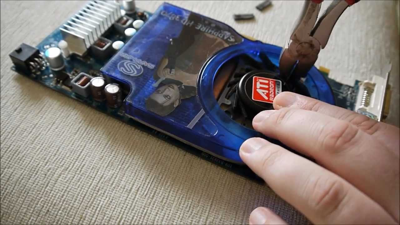 Replacing the video card fan