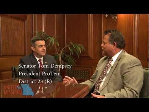 Senate President Pro Tem Tom Dempsey (R-23) talks about the Missouri Department of Revenue scandal