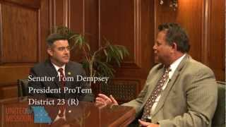 Senate President Pro Tem Tom Dempsey (R-23) talks about the Missouri Department of Revenue scandal