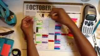 October Command Center Calendar Layout & Plans