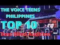 Top 10 Best Blind Audition | The Voice Teens Philippines 2020 | 1st Batch