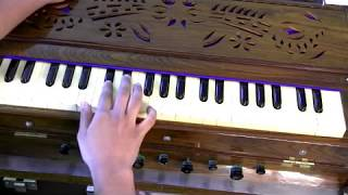 How to play - Aarti - Om Jai Jagdish Hare on Harmonium - Part 1