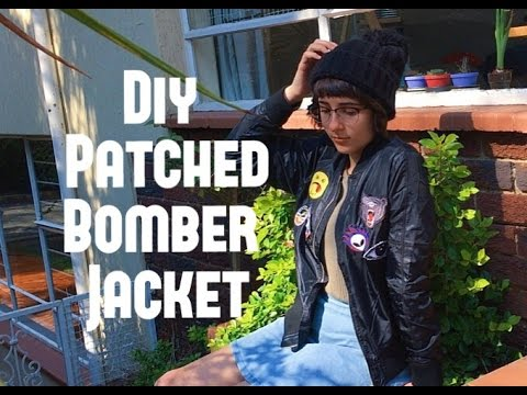 DIY #1: Patched Bomber Jacket