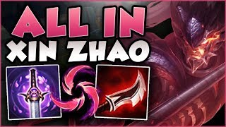 WTF! INSTANTLY ACTIVATE Q KNOCKUP ON XIN ZHAO?? ALL IN XIN ZHAO TOP GAMEPLAY! - League of Legends