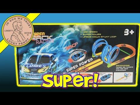 Super Track Racing Loop To Loop Pull Back Car Track Toy Set