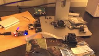 FlashcatUSB Pro 4.0 reading a Micron N25Q00AA (1.8V BGA-24)