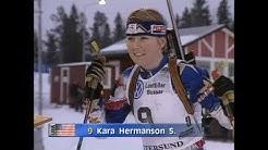 Magdalena Forsberg - World Cup Östersund 1997 - Sprint 7.5 km