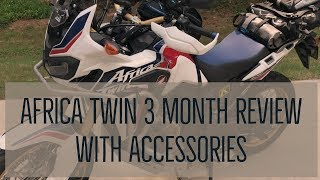 Africa Twin (DCT) 3 Month Review including Accessories