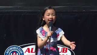 7-year old Malea Emma crushes the national anthem at NASCAR Xfinity Series Race