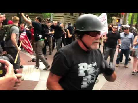 Downtown brawl: Video by Mike Bivins
