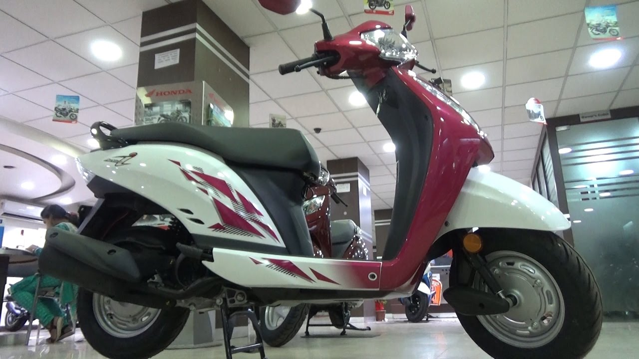 NEW HONDA ACTIVA i BS-IV WITH A.H.O. WALK AROUND REVIEW - YouTube