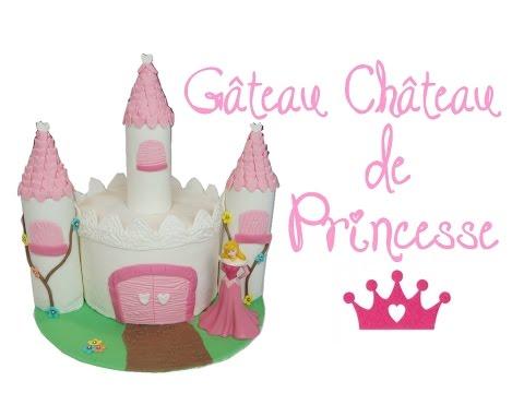 comment-faire-un-gâteau-de-princesse-le-château- -how-to-make-a-princess-castle-cake- -cake-design