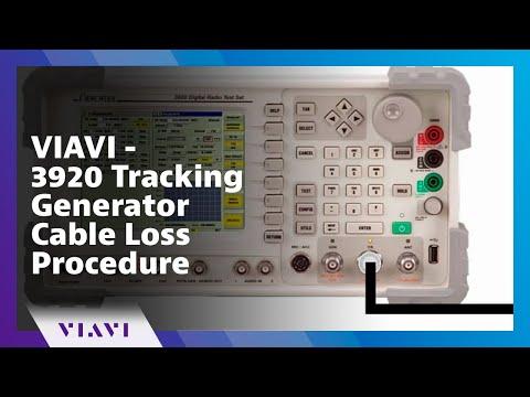 VIAVI - 3920 Tracking Generator Cable Loss Procedure