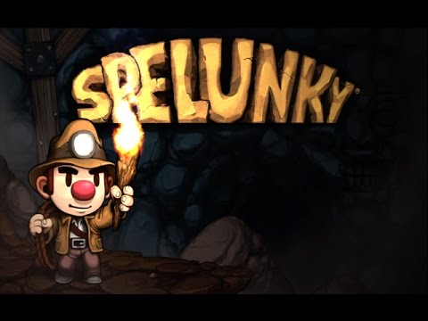 Spelunky - In One Run: Castle, Worm, Mothership and Hell