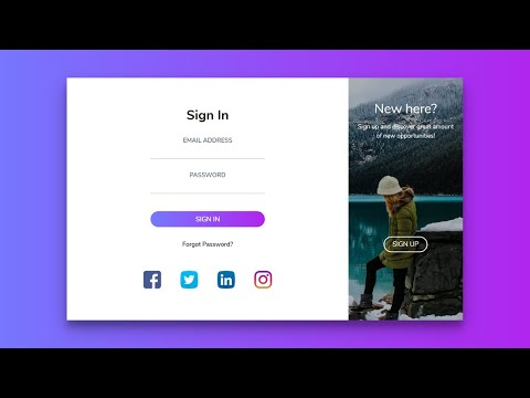 Create Login & Registration Form In Html & CSS | Sliding Sign In & Sign Up Form With Transition