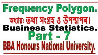 Frequency Polygon Bangla tutorial 1, Data Collection and Presentation, Business Statistics.