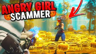 ANGRY GIRL Scammer Losses Her Entire Inventory! (Scammer Gets Scammed) In Fortnite Save The World
