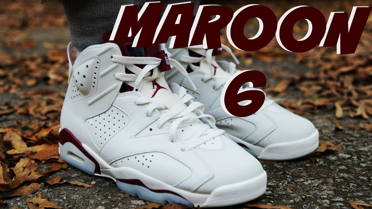 Jordan 6 Maroon On Feet