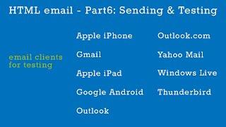 HTML Emails Part 6 - Sending & Testing