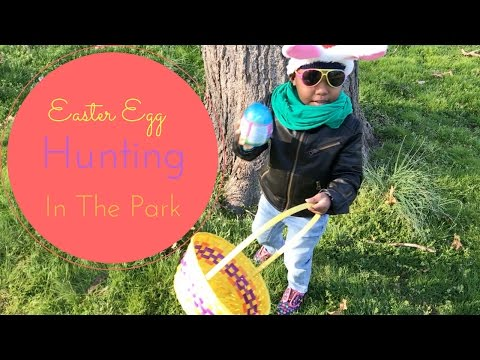 EASTER EGG HUNTING FUN IN THE PARK