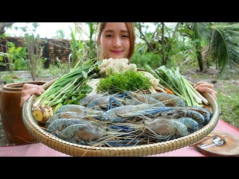 Yummy River Prawn Soup Cooking – River prawn Soup Recipe – Cooking With Sros