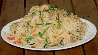 របៀប ឆាគុយទាវជាមួយសាច់ជ្រូក | Stir-Fried  Noodle with Pork | មេផ្ទះ (Housewife)
