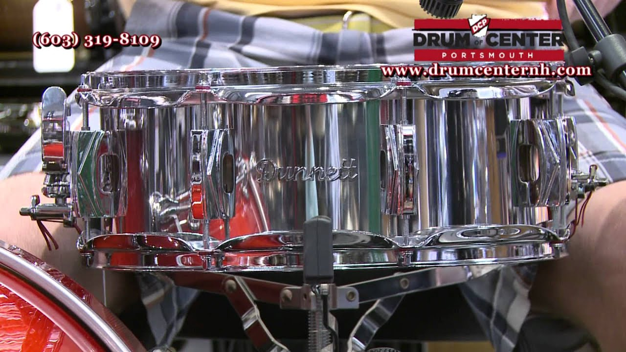 dunnett stainless steel snare drum w deco lugs youtube. Black Bedroom Furniture Sets. Home Design Ideas