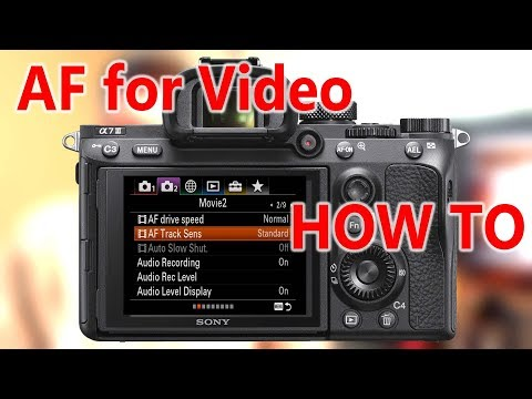 Sony Autofocus -- Best Settings for video shooting A7III