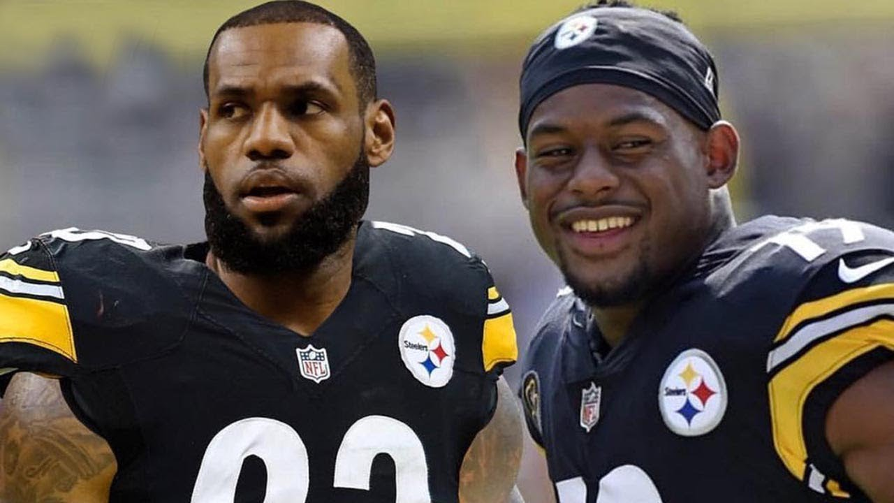 purchase cheap 58039 70c69 LeBron James Becoming a TWO SPORT Athlete & Joining the Steelers!!?