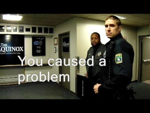 """Cops eject me from """"public"""" govt. event (Keene State College, NH)"""