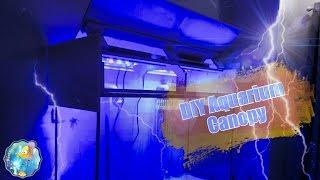 how to diy aquarium canopy led light fixtures 120g reef tank setup