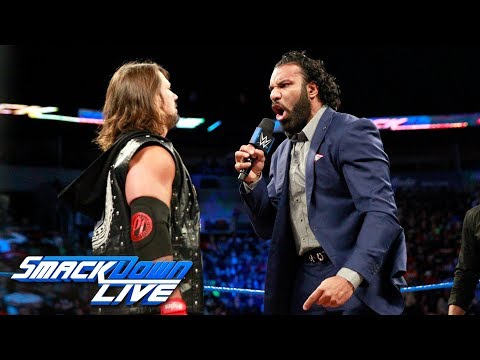 AJ Styles interrupts Jinder Mahal's challenge to Brock Lesnar: SmackDown LIVE, Oct. 17, 2017