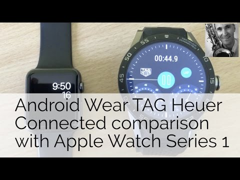 TAG Heuer Connected - quick look next to an Apple Watch